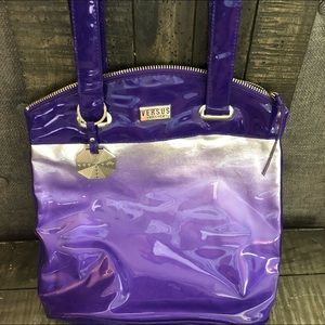 VERSACE Versus purple silver  ombré bag